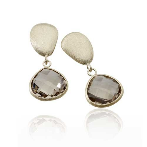 GEM LIGHT SMOKEY MATTE EARRINGS