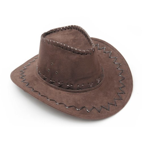 Dark Brown Western Cowboy Cowgirl Cattleman Hat For Kids Children Party Costume by Generic