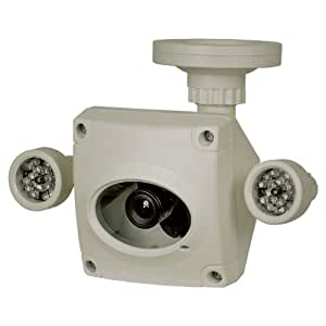 Clover Electronics HDC255 Super High-Resolution Indoor/Outdoor Night Vision Cyclops Security Camera - Small (Cream)