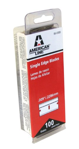 American Safety Razor 66-0089-disp Single Edge Razor Blade Box, 100-Pack