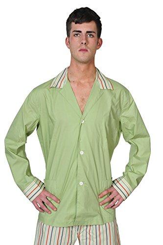 brioni-pajama-men-olive-green-cotton-plain