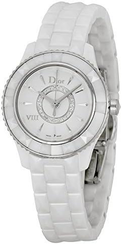 Dior VIII Diamond Silvered Dial Ladies Watch