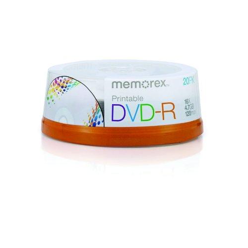 Memorex DVD-R 16x 4.7GB 20 Pack Spindle Printable