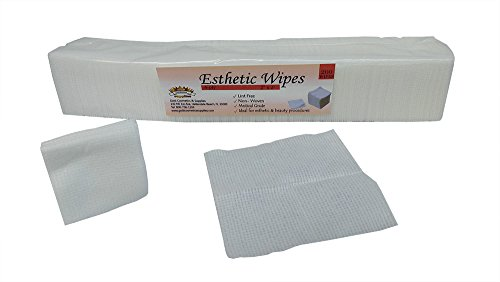 gold-cosmetics-supplies-200-pieces-disposable-esthetics-wipes-2x2-nail-polish-remover-pads-cleansing