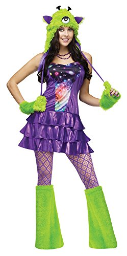 [Fun World Costumes Women's Galaxina Adult Costume, Purple/Green, Small/Medium] (Alien Costume Woman)