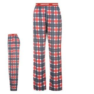 Propeller Pyjama Bottoms Mens Red - Check Large