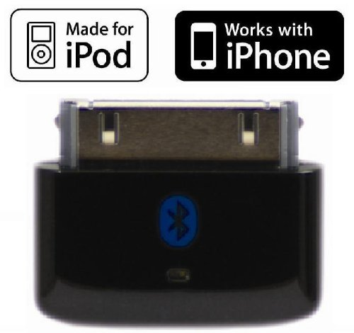 i10s (NEW Luxurious Black) Tiny Bluetooth iPod Transmitter for iPod/iPhone/iPad/iTouch with true Apple authentication. Remote controls and local iPod/iPhone/iPad volume control capabilities. Plug and Play, works and fits very well with latest iPod 6th generation tiny Nano, iPod Touch 4th generation, iPhone 4 and iPad. Bluetooth iPod Adapter.