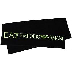 Emporio Armani EA7 telo mare asciugamano uomo originale basic nero