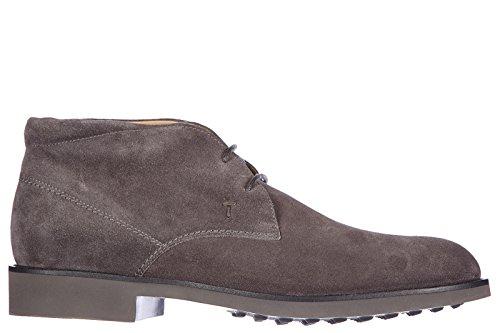 Tod's polacchine stivaletti scarpe uomo camoscio polacco fondo light grigio EU 45 XXM0OX00D81RE0B408