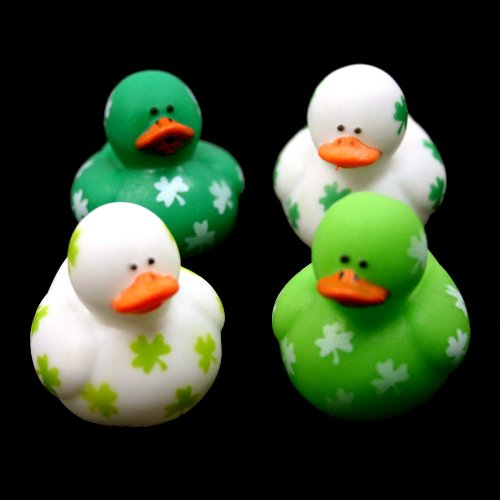 Mini Shamrock Rubber Ducks : package of 24 - 1