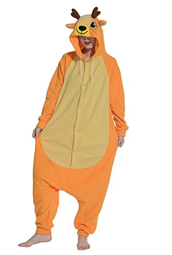 fandecie-pigiama-costume-onesie-da-adulti-tema-cervo-unisex-ideale-per-halloween-cosplay-dormire-per