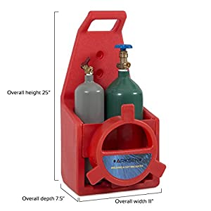 ARKSEN© Portable Torch Kit, Oxygen & Acetylene Welding, Victor-Type, Professional, Tote Storage, Red from ARKSEN