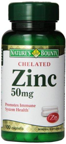 Nature's Bounty Zinc Chelated 50 mg, 100 Caplets