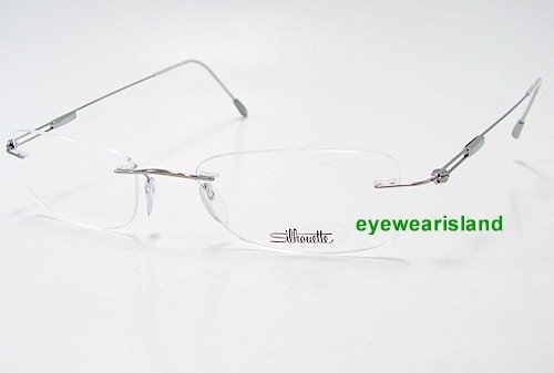 SILHOUETTE Chassis 7534 Titan Next Generation III 6075 Silver Optical Eyeglasses Frame (Bridge:19 Temple:160)