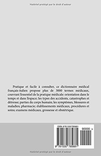 DICTIONNAIRE MEDICAL POUR VOYAGEURS: Francais -  Italien
