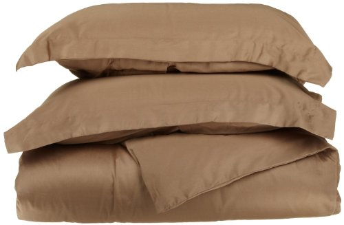 Impressions 1500 Series Wrinkle Resistant King/California King Duvet Cover 3-Pc Set Solid, Taupe front-763839