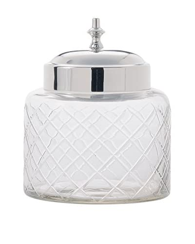 Torre & Tagus Small Cut Glass Canister