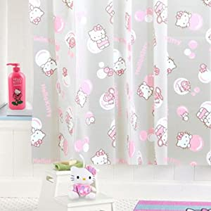 hello kitty pink shower curtain