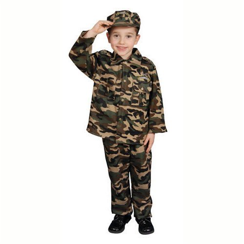 Deluxe Army Dress Up Costume Set - Toddler T2