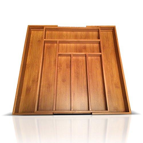 Baboon bamboo utensil drawer organizer mature for Utensil organizer for small drawers