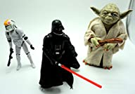 Set of Star War Battles; Yoda+Darth Vader+StormTrooper