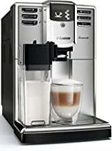 Saeco HD8917/01 Incanto Machine à Café Automatique Inox/Noir, Ecran LCD, Système de détartrage, Carafe à lait