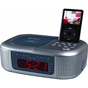 emerson ic2196 ipod dock alarm clock radio. Black Bedroom Furniture Sets. Home Design Ideas