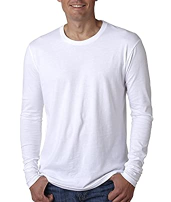 N8101 Next Level Men's Long-Sleeve Poly/Cotton Thermal - White - S