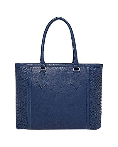 Charming Charlie Women's River Oaks Woven Tote One Size Blue Dark (Charming Charlie compare prices)