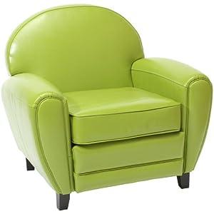 Hayley Green Leather Club Chair