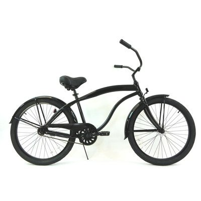 Men's Single Speed Beach Cruiser Color: Black