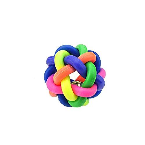 Artikelbild: Neue bunte Glocke Twisted Ball Katze, Hund, Haustier Sound Spielzeug Gürtel Glocke Regenbogen BallHundespielzeug Haustier Gummiball Wurfball Hundeball Hundespielzeug