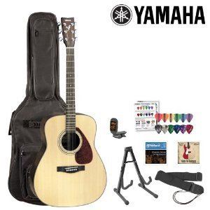Yamaha JF-FX325-KIT-1 Acoustic-Electric Guitar Kit with Gig Bag, Strings, Strap, Stand, Tuner, Instructional DVD and Pick Sampler from Yamaha