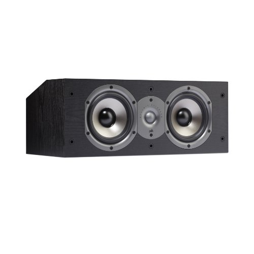 Polk Audio Monitor 15C Two-Way Center Channel Speaker (Single, Black)