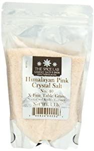 The Spice Lab's Pure Himalayan Natural Unprocessed Culinary Crystal Salt - 1 Pound - Finely Ground .5mm