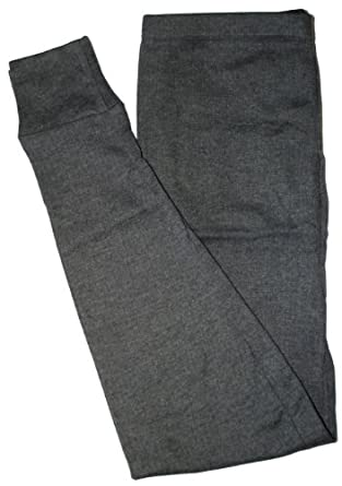 Mens Grey Brushed Thermal Long Johns Leggings Size Small