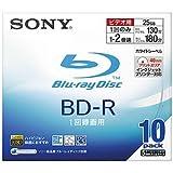 Sony BD-R 25GB 録画用 2倍速対応 追記型 5mmスリムケース 10枚パック10BNR1VBNS2