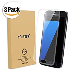Galaxy S7 Screen Protector [Full Coverage],Yootech [3-Pack] [Anti-Bubble] [HD Ultra Clear Film] Edge to Edge Screen Protector for Samsung Galaxy S7,