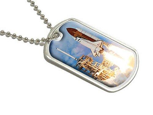 space-shuttle-launch-raumschiff-discovery-militarische-erkennungsmarke-gepack-schlusselanhanger