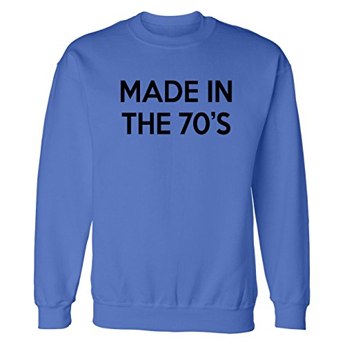 Mashed Clothing Made In The 70S Adult Sweatshirt (Royal, 3Xl) front-1003331