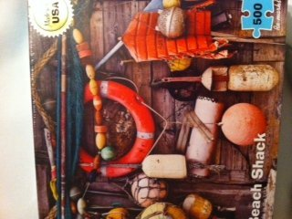 "Re-marks ""Beach Shack"" 500pc Jigsaw Puzzle Made in USA"