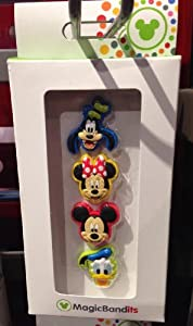 Disney Parks Mickey Mouse and Pals Magic Band Bandits Set of 4 NEW Charms