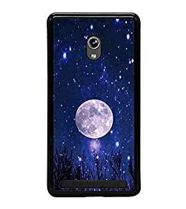 Vizagbeats Full Moon Blue Nighty Sky Stars Back Case Cover for ASUS ZENFONE 6