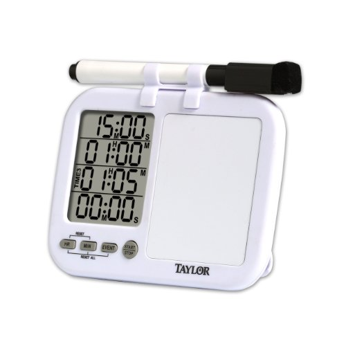 Taylor 5849 Quad Kitchen Timer With Whiteboard , New, Free