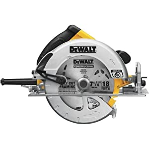 Lightweight circular saw with electric brake