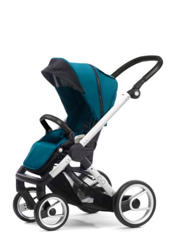 Mutsy Evo Stroller with Silver Frame, Pacific - 1