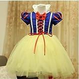 コスプレ ディズニー シンデレラ 白雪姫 風 衣装 3点セット子供 クリスマス パーティー 誕生日 演出用 (04 130cm)……