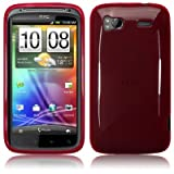 HTC Sensation / Sensation XE Gel Skin Case / Cover Red PART OF THE QUBITS ACCESSORIES RANGEby TERRAPIN