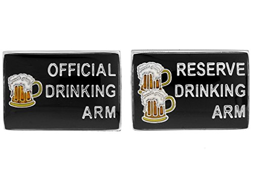 MRCUFF Official Drinking Arm Cufflinks with a Presentation Gift Box (Beer Cufflinks compare prices)