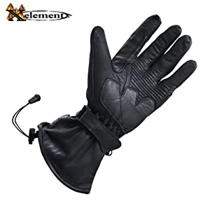 Xelement Mens Leather Motorcycle Winter Gloves - Large